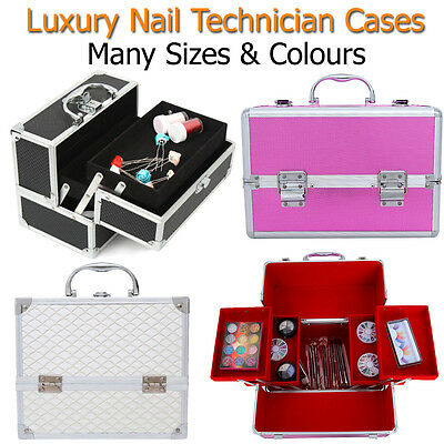 Nail Technician Case Large Storage Box Salon Mobile Beautician Beauty Travel Spa