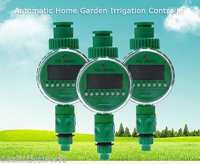 Home Ball Valve Automatic LCD Watering Timer Garden Irrigation Controller