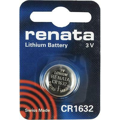 5 x Renata CR1632 Batteries Lithium Battery 3V Button/Coin Cell CR 1632 DL1632