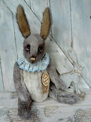 Rolo Handmade OOAK bunny rabbit vintage Coco and Clare artist Bears soft plush.