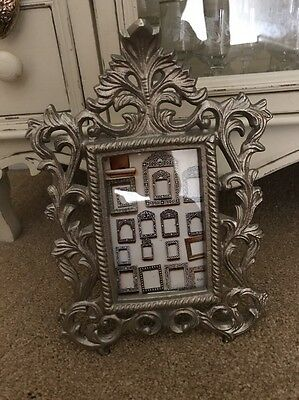 Antique Theme Cast Iron Photo Frame Ornate Victorian Traditional