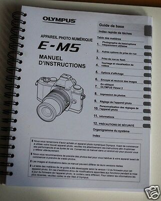 Olympus  Om-D E M5 Manuel D'instructions Detaillees
