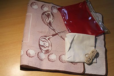 Vintage Golf Towel & Hanky -  Very Old but Unused! Shop Display maybe..