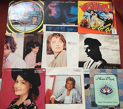 "80s 90s & 00's / Brit Pop / Indie / Dance /vinyl Job Lot / 9 x 12"" vinyl records"