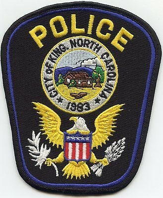King North Carolina Nc Police Patch