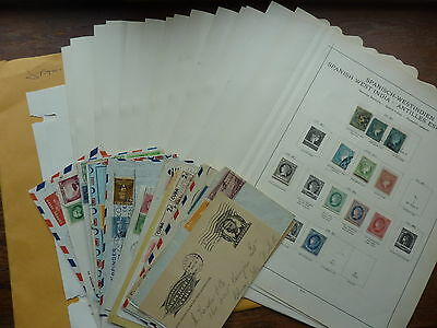Spanish Colonies In West Indies/antilles, Large Stamp Collection W/ Better Items