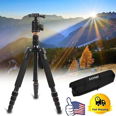 ZOMEI Q666 Aluminium Travel Tripod Monopod Ball Head for Canon Nikon SLR Cam EK