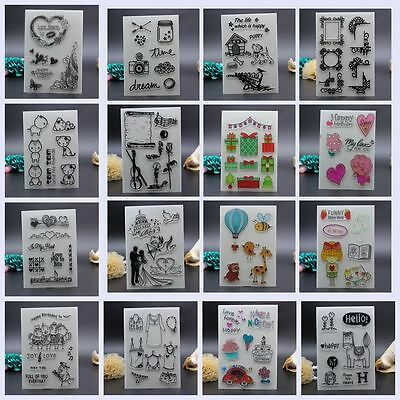 Sheet Silicone Rubber Colorful Transparent Stamps Scrapbooking DIY Crafts