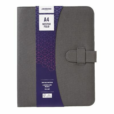 BNWT Grey Canvas A4 Notebook folio/compendium