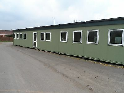 6 Bay Resin Based Stipple Finish Modular Building Classroom/Nursery 7.2m x 19.2m