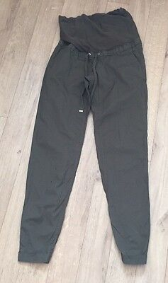 H&M Maternity Over Bump Cargo Trousers Size EUR 36 UK 8-10 Leg 31