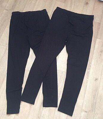 Two Pairs Of New Look Maternity Leggings Size Large 16-18