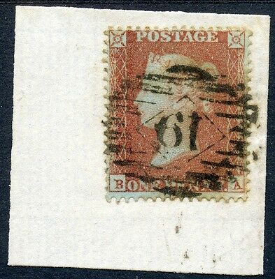 Scarce 1854 1d red-brown, Pl. 98, perf. 16 by HENRY ARCHER. SG 16b, cat.£625.