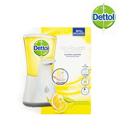 Dettol No-Touch Hand Wash System 250ml Fresh Citrus Squeeze Damaged Box
