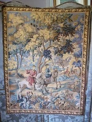 French Vintage Hunting Scene Colourful Hunting Scene