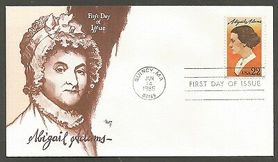 Us Fdc 1985 Abigail Adams 22C Stamp Marg Cachet First Day Of Issue Cover