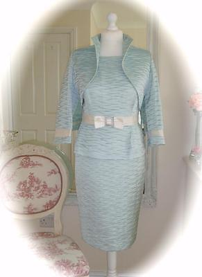 SALE Mother of Bride Carina 3432 Jacket/Dress, Verde, UK16