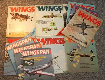 12 x WINGS & WINGSPAN - AIRCRAFT & SCALE MODEL MAGAZINES SALE - LOT 2