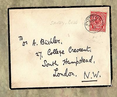 Cover Envelope ~ POTTON BEDFORDSHIRE Circle Postmark ~ 1912