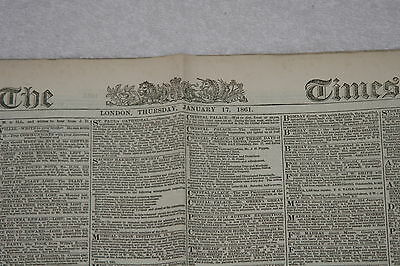 The Times - 17 January 1861
