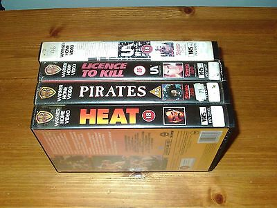 4 x Ex-Rental Big Box VHS Videos - Warner / Pre-Cert Interest