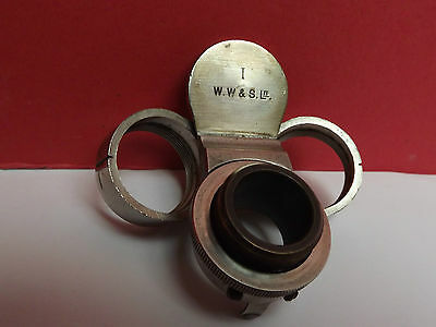 Microscope [ Double Nosepiece ] W.WATSON { Tropical ] Silvered { C1920 } Working