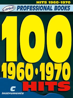 100  HITS 1960-1970 TESTI 100 SUCCESSI in DO LINEA MELODICA con ACCORDI