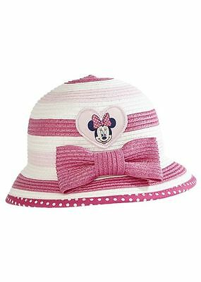 Brand New Baby Girl Disney Minnie Mouse Sun Hat Age  0  - 6   months old  bnwt