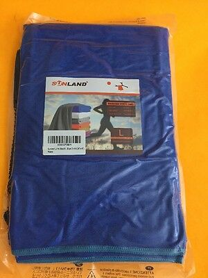 """SUNLAND Microfiber Sports Towel Compact Fast Drying Travel 24""""x48"""" Blue Orchid"""