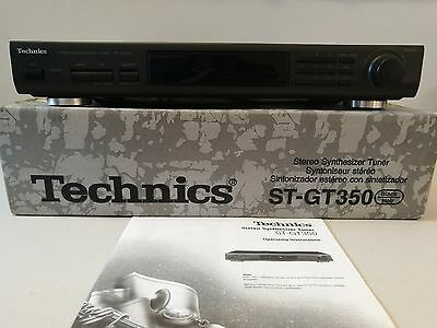TECHNICS STEREO SYNTHESIZER ST GT-350 TUNER separates  Excellent Condition w Box