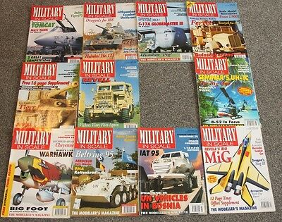 11 x MILITARY IN SCALE MAGS - AIRCRAFT & SCALE MODEL MAGAZINES SALE - JOBLOT 20