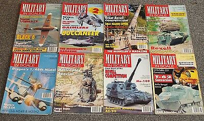 8 x MILITARY IN SCALE MAGS - AIRCRAFT & SCALE MODEL MAGAZINES SALE - JOBLOT 21