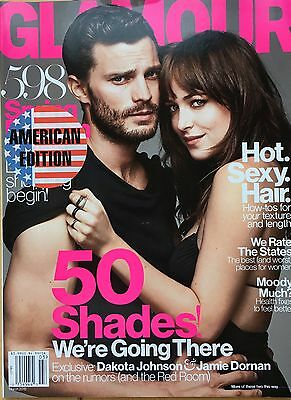 GLAMOUR AMERICAN March 2015 Jamie Dornan Dakota Johnson Fifty Shades of Grey NEW