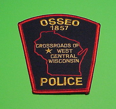 "Osseo  Wisconsin  1857  Wi   "" Crossroads ""   Police Patch   Free Shipping!!!"