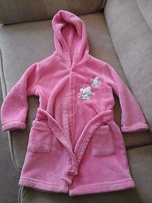Girl's Pink Dressing Gown - size 18-23 months