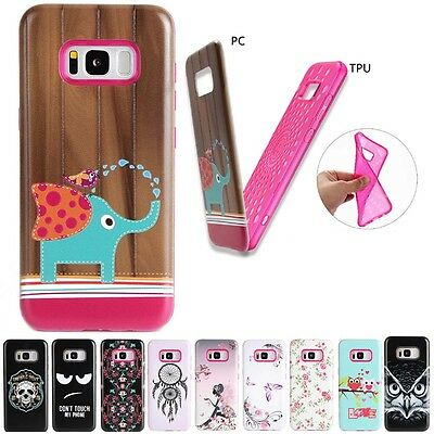 Shockproof Hybrid PC + TPU Armor Hard Case Cover For Samsung iPhone
