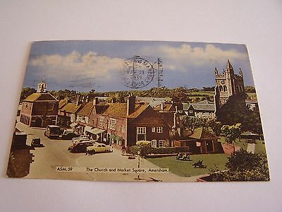 Vintage RP Postcard The Church & Market Square Amersham 1967