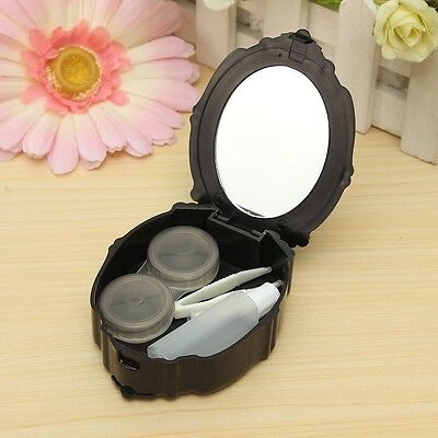 Contact Lens travel case protector holder safe mirror - WHITE  (I65