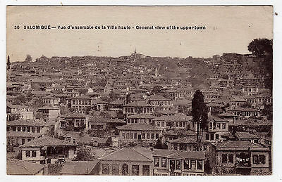 Greece, Salonique, General View Of The Upper Town