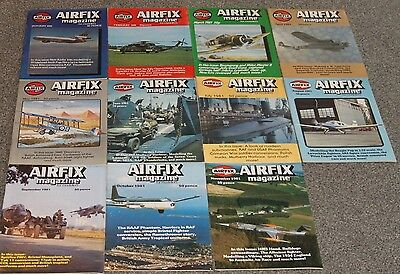 11 x AIRFIX MAGS 1981 - AIRCRAFT & SCALE MODEL MAGAZINES SALE - JOBLOT 27