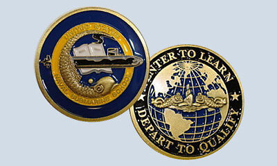 Navy Naval Submarine School Enter To Learn Depart To Qualify Challenge Coin USN