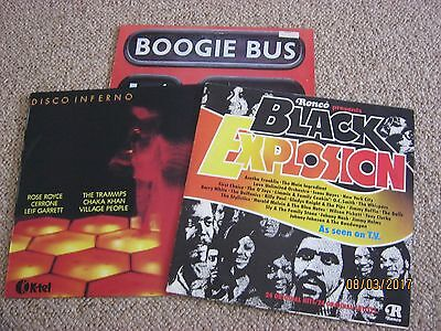 DISCO / BOOGIE / SOUL - 3 x COMPILATION LPs  Great tracks & Artists