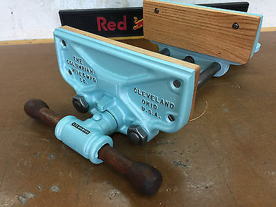 """Vintage 10"""" Columbian Woodworking Bench Vise With Quick Release Model 10-R"""