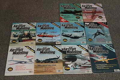 10 x SCALE AIRCRAFT MODELING - AIRCRAFT & SCALE MODEL MAGAZINES SALE - JOBLOT 30