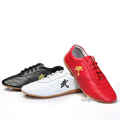 Soft Cow Leather Kung fu Tai chi Shoes Martial arts Wushu Sports Sneakers