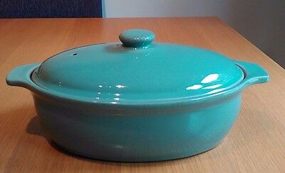 * Vintage Denby Oval Casserole Dish With Lid * Manor Green *