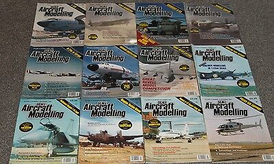 12 x SCALE AIRCRAFT MODELING - AIRCRAFT & SCALE MODEL MAGAZINES SALE - JOBLOT 31
