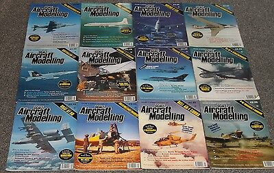 12 x SCALE AIRCRAFT MODELING - AIRCRAFT & SCALE MODEL MAGAZINES SALE - JOBLOT 32