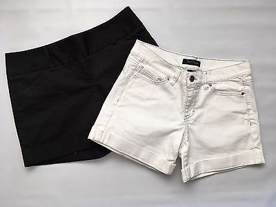 EXPRESS WHITE HOUSE BLACK MARKET NWOT LOT 2 Women's Size 4 Summer Shorts.
