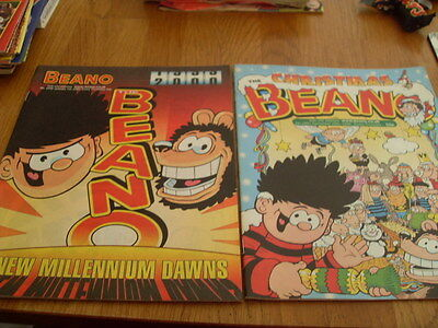 The Beano Comic 2 Issues No 2997 1999 / 2998 2000